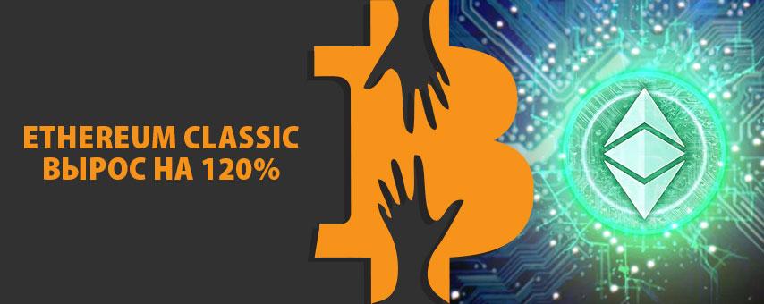 Ethereum Classic вырос на 120%