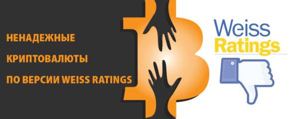 Ненадежные криптовалюты по версии Weiss Ratings