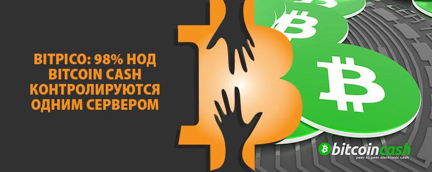 BitPico: 98% нод Bitcoin Cash контролируются одним сервером