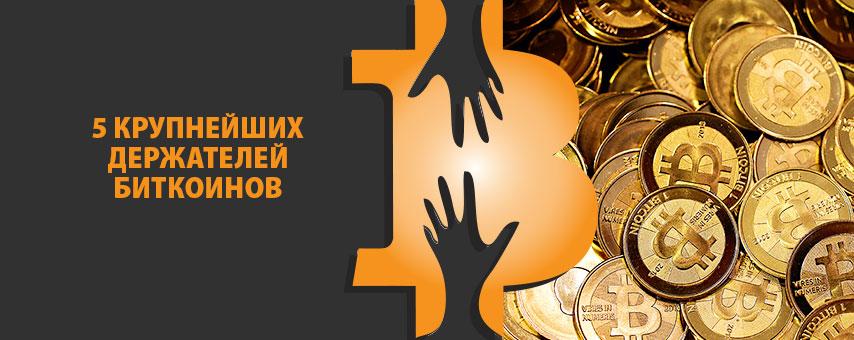 5 крупнейших держателей биткоинов